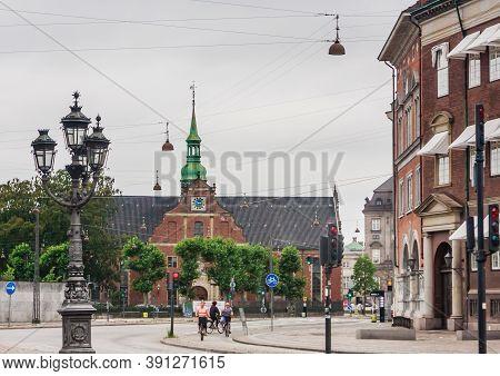 Copenhagen /denmark, Jule 14, 2019.  Church In Central Copenhagen On The Street Called Holmens Kanal