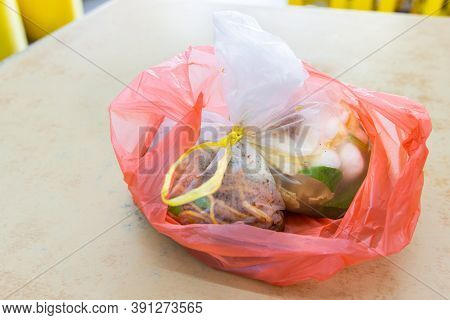 Take Away Food Packed In Plastic Bags Are Toxic And Environmental Unfriendly
