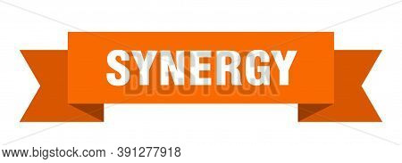Synergy Ribbon. Synergy Paper Band Banner Sign