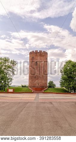 Kamenets Tower. Belaya Vezha. White Tower In The Town Of Kamenets, Belarus
