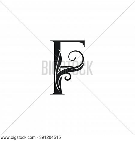 Monogram Luxury Initial Logo Letter F Vector Design Concept Luxury Floral Leaf For Luxuries Business