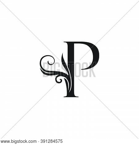 Monogram Luxury Initial Logo Letter P Vector Design Concept Luxury Floral Leaf For Luxuries Business