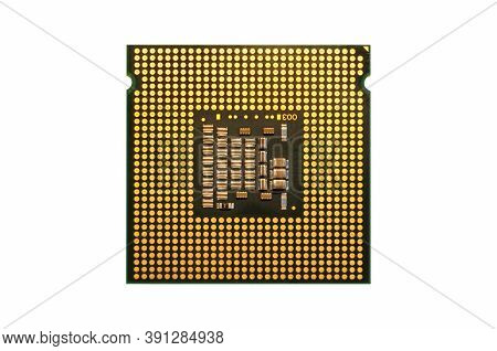 Closeup Of Computer Cpu Processor Isolated On White