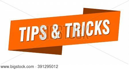 Tips And Tricks Banner Template. Tips And Tricks Ribbon Label Sign