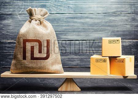 Israeli Shekel Money Bag And Boxes. Market Price Regulation. Import And Export, Withholding Of Custo