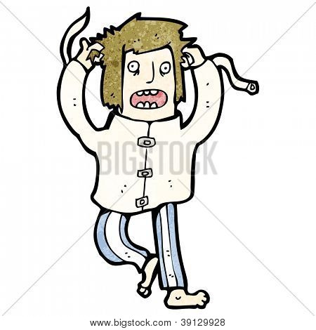 cartoon escaped lunatic
