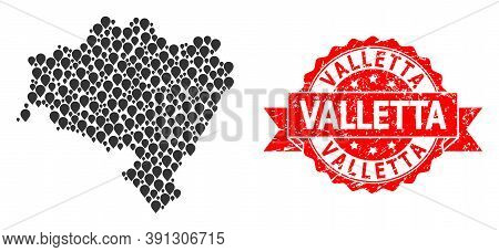 Target Collage Map Of Lower Silesia Province And Grunge Ribbon Stamp. Red Stamp Seal Includes Vallet