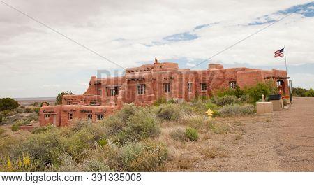 Painted Desert Inn National Historic Landmark In Petrified Forest National Park, Arizona