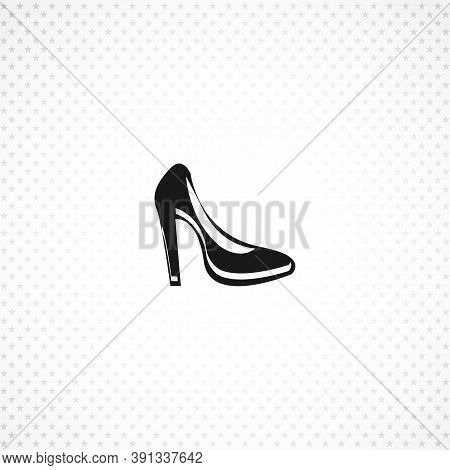 Woman Heel Isolated Solid Vector Icon On White Background