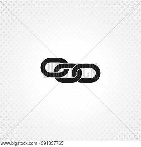 Link Single Icon. Chain Link Isolated Solid Vector Icon On White Background