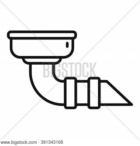 Drain Gutter Icon. Outline Drain Gutter Vector Icon For Web Design Isolated On White Background