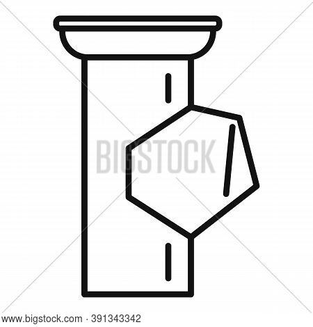 Spout Gutter Icon. Outline Spout Gutter Vector Icon For Web Design Isolated On White Background