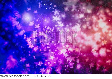 Background With Colorful And Illuminating Lights In Circle Shapes With Black Background, New Year Ba