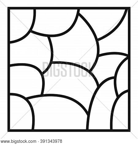 Paving Icon. Outline Paving Vector Icon For Web Design Isolated On White Background