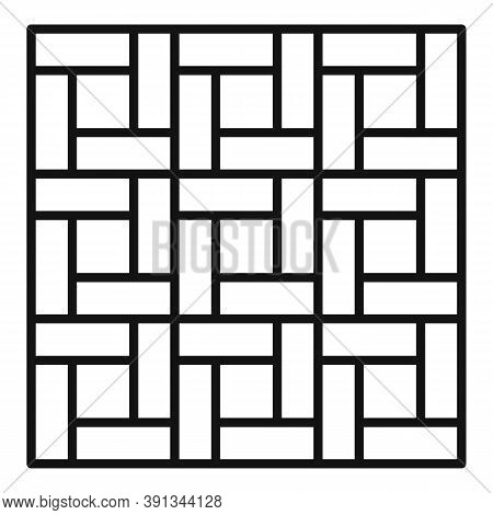 Paving Pattern Icon. Outline Paving Pattern Vector Icon For Web Design Isolated On White Background