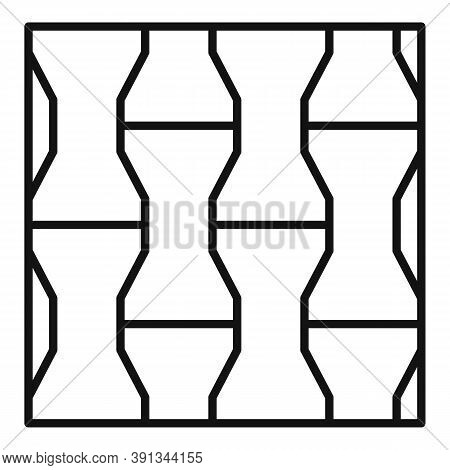 Paving Street Icon. Outline Paving Street Vector Icon For Web Design Isolated On White Background