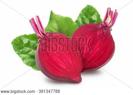 Beetroot Half Isolated On White Background With Clipping Path And Full Depth Of Field