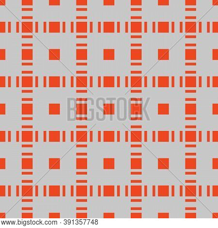 Squares Seamless Pattern. Abstract Geometric Texture With Small Square Shapes In Regular Grid. Orang