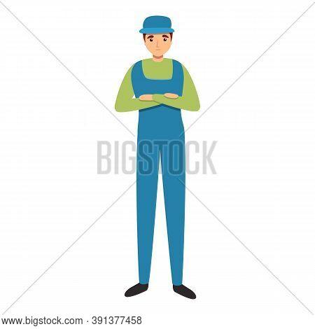 Mechanic Waiting Work Icon. Cartoon Of Mechanic Waiting Work Vector Icon For Web Design Isolated On
