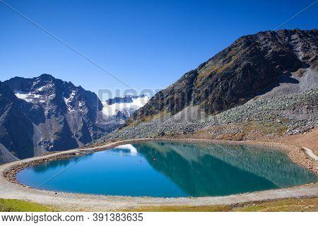 The Tiefenbach Glacier Located Near Sölden In The