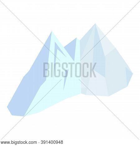 Melting Glaciers Icon. Isometric Illustration Of Melting Glaciers Vector Icon For Web