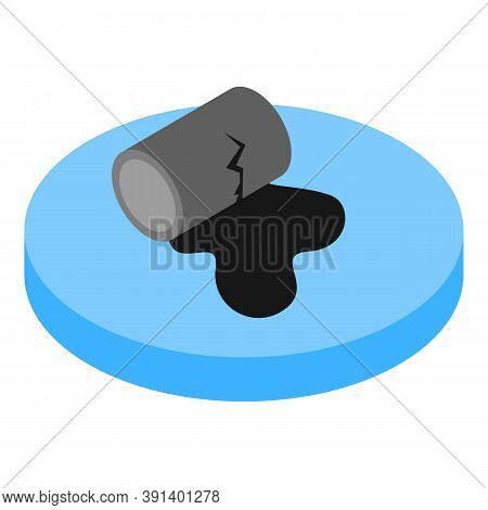 Oil Spill Icon. Isometric Illustration Of Oil Spill Vector Icon For Web