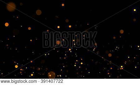 Abstract Motion Background Shining Gold Particles.