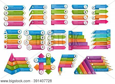 Collection Infographics. Vector Design Elements. Infographics For Business Presentations Or Informat