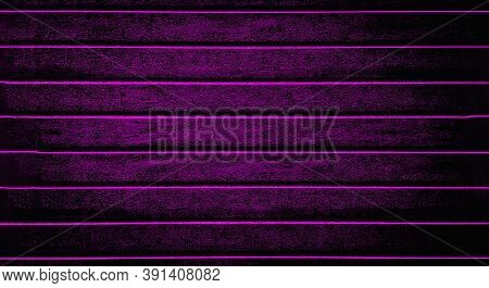 Purple Background Texture The Fence, Siding. Plastic Fence Purple Striped. Web Panorama Banner With