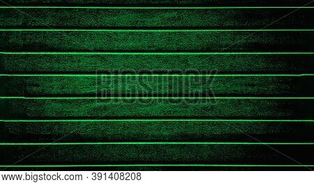 Green Background Texture The Fence, Siding. Plastic Fence Greenstriped
