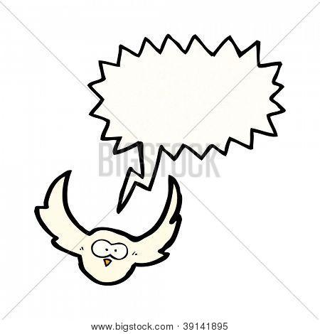cartoon screeching owl