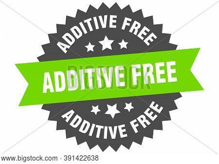 Additive Free Round Isolated Ribbon Label. Additive Free Sign