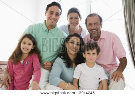 Middle Eastern Family At Home