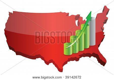 Us Business Graph Success