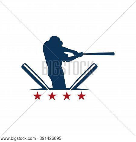 Baseball Emblem Design Vector, Baseball Logo Design Template, Symbol Icon, Illustration