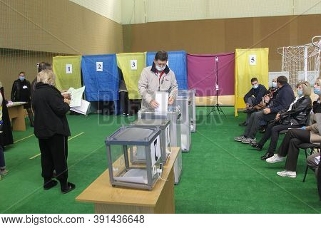 Odessa, Ukraine -25.10.2020 - Elections In Ukraine. Electoral Platform For Elections Of Local Counci