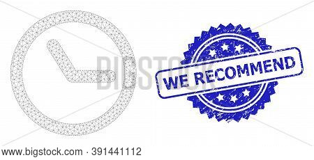 We Recommend Rubber Seal And Vector Clock Mesh Structure. Blue Stamp Seal Includes We Recommend Titl