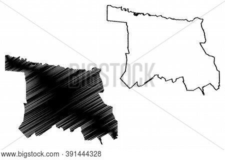 Marrakesh City (kingdom Of Morocco, Marrakesh-safi Region) Map Vector Illustration, Scribble Sketch