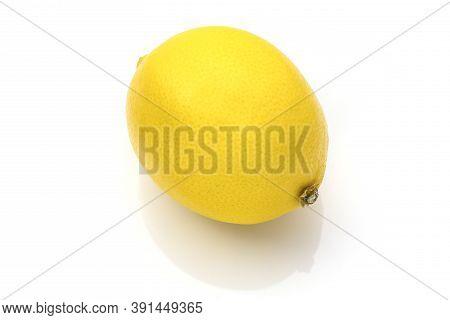 Lemon Placed On A White Background. Lemon Placed On A White Background.  Fresh Lemon Isolated On Whi