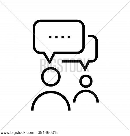 Interview Icon Isolated On White Background From Fame Collection. Interview Icon Trendy And Modern I