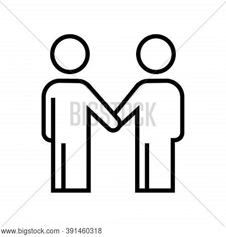 Men Shaking Hands Icon Isolated On White Background From Business Collection. Men Shaking Hands Icon