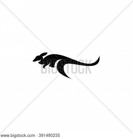 Kangaroo, Animal Vector Icon. Filled Flat Sign For Mobile Concept And Web Design. Wallaby Kangaroo G