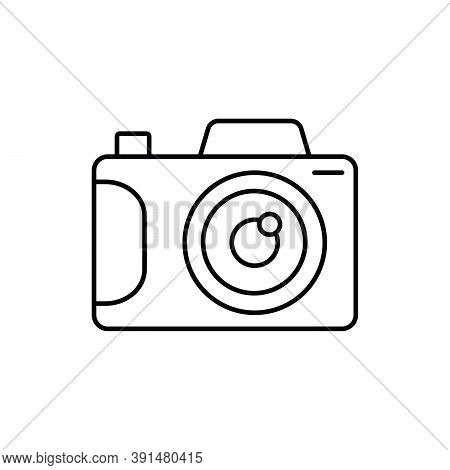 Camera Photography Mirrorless Device Single Isolated Icon With Line Or Outline Style
