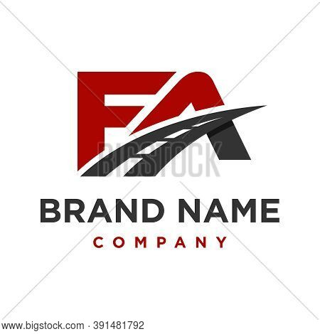 Initial Logo Fa Road Your Company Or Brand