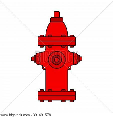 Fire Hydrant Icon. Editable Outline With Color Fill Design. Vector Illustration.