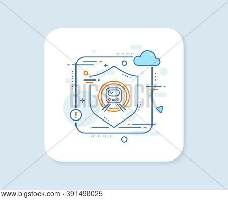 Metro Subway Transport Line Icon. Abstract Vector Button. Public Underground Transportation Sign. Me