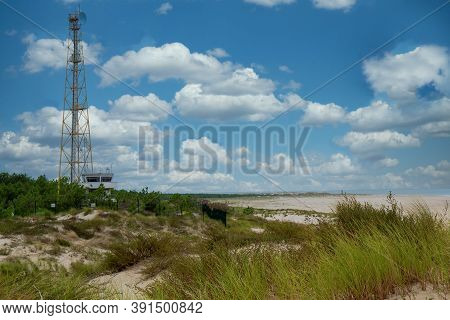 A Sea Side In The Medoc Country, France