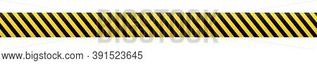 Barrier Tape. Construction Border. Black And Yellow Restriction Line. Do Not Cross Boundary Tape.