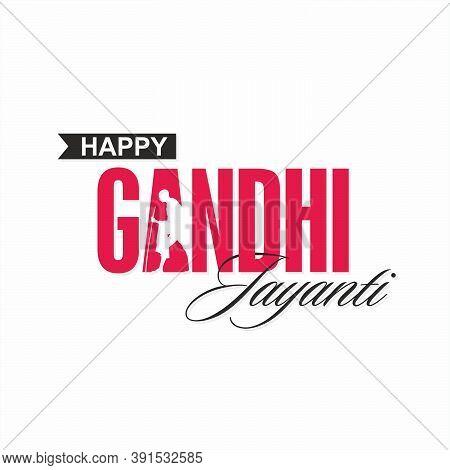 Happy Gandhi Jayanti Banner - 2nd October - Birthday Of Mahatma Gandhi