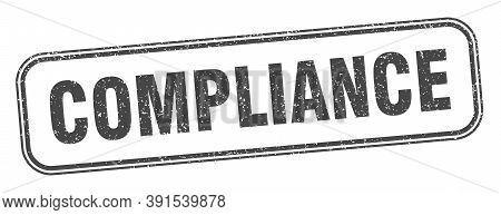 Compliance Stamp. Compliance Square Grunge Sign. Label